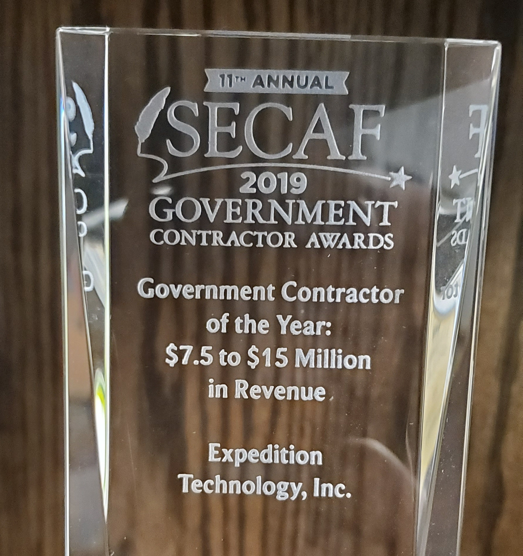 Expedition Technology wins Government Contractor of the Year